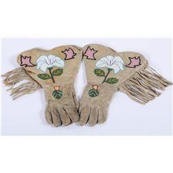 Ladies Beaded Gauntlet Gloves  (87828)