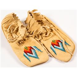 Beaded Moccasins by Agnes Kenmille  (56830)
