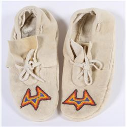 Paiute/Bannock beaded ladies Moccasins   (85970)