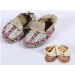 Crow and Sioux Baby Moccasins (2 pair)  (87802)