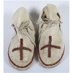 Sinew and Beaded Moccasins  (85979)