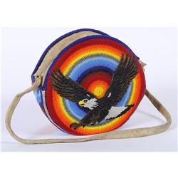 Spectacular Beaded Native American Handbag  (87843)