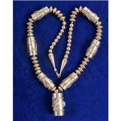 Navajo Silver Pendent Necklace (Vintage)  (90691)