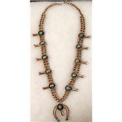 Navajo Squash Blossom Necklace  (90663)