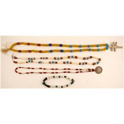 Trade Beads (3 necklaces & 1 ankle bracelet)  (87679)
