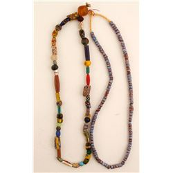 Trade Beads Necklaces (2)  (87675)