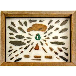Great Basin Projectile points and basket fragment  (78847)
