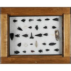 Points, Shells, Scrapers Arrowheads, Drills  -Items Removed for Cultural and Historical Preservation