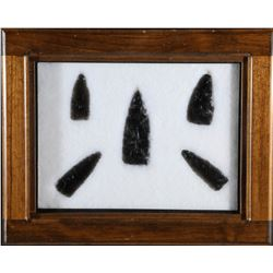 Large Obsidian points over 4 in. in length  (87767)