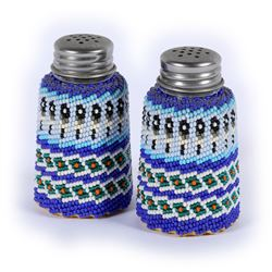 Paiute Beaded Salt & Pepper Shakers  (87849)