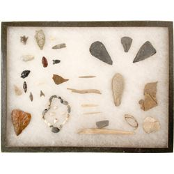 Points, Shell Bracelet, Bone Needles   (90276)