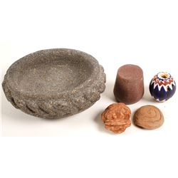 Small Stone Carved Items (4)  (90616)
