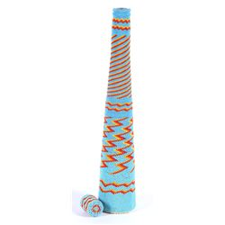 Tall Beaded bottle with lid (Paiute)  (87833)