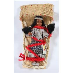 Western Mono Doll Basket  (87558)