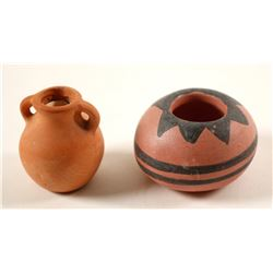 Pottery (2 small Native American Pots)  (90701)