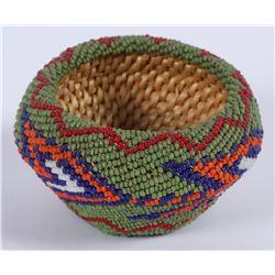 Paiute Beaded Small Basket  (85976)