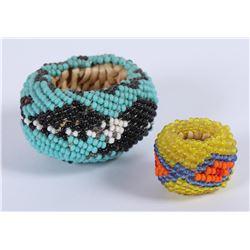 Paiute Miniature Beaded Baskets (2)  (87808)