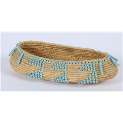 Pomo Style Replica Small Beaded Basket  (85967)
