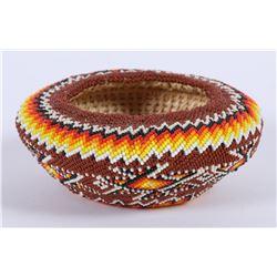 Paiute Beaded Zig Zag Basket by Betty Rogers  (87825)