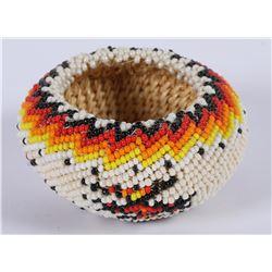 Paiute Beaded Bowl by Betty Rogers  (85956)