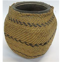 Paiute Basket Wrapped Jar  (54854)