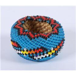 Paiute beaded Basket by Jennie Dick  (85944)