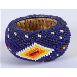 Paiute Beaded miniature Basket  (87835)