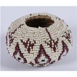 Miniature Bali Beaded Basket  (87807)
