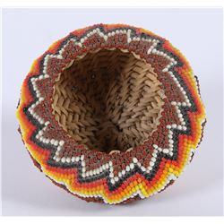 Schurz Paiute Beaded Basket by Betty Rogers  (85931)