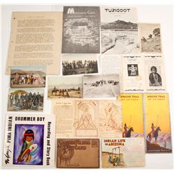Arizona Native American Atraction Brochures and Postcards  (61761)