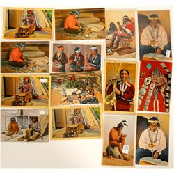 Native American Postcards Depicting Jewelry Making  (91426)