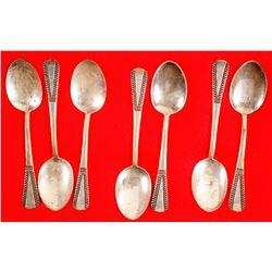 Navajo Vintage Sterling Silver Spoons (7)  (90688)