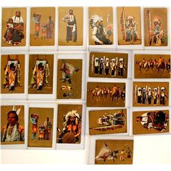Native American Postcards with Gold-Tone Background  (91422)
