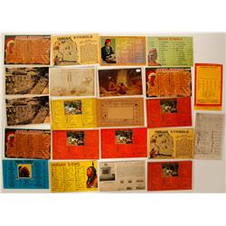 Petroglyph Art and Sign Language on Postcards  (91440)