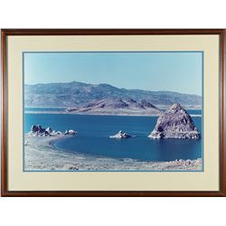 Framed Pyramid Lake Photo   (87608)