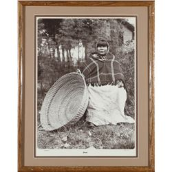 Native American Woman with Basket Photo by Cowles  (87640)