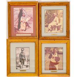 Paiute Framed Photos (4)  (98033)