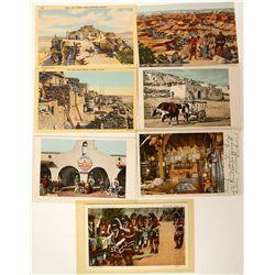 Postcards, 7 chromolitho's  (91163)