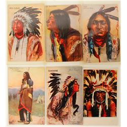 Indian Chiefs Postcards (5) (90713)