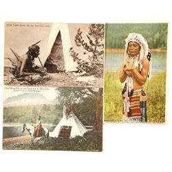 Indian Postcards (3)   (90706)