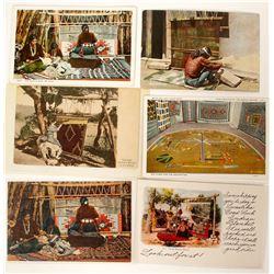 Indian Weaver Postcards (6) (91164)