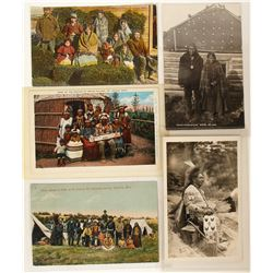 Great Lakes Indian Postcards (5)  (90707)