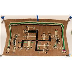 Navajo Rug (Handwoven)  (86841)