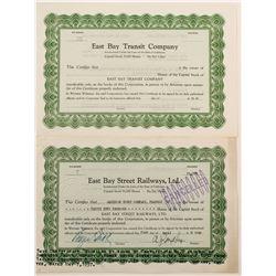 East Bay Street Railways/  East Bay Transit Co  (77252)