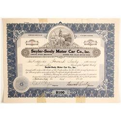 Seyler-Seely Motor Car Co. Inc.  (89646)
