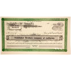 Studebaker Brothers Company of California  (89630)