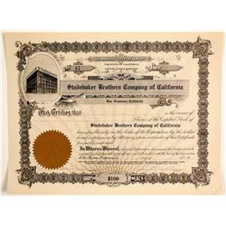 Studebaker Brothers Company of California  (89631)