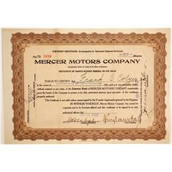 Mercer Motors Co.  (89648)