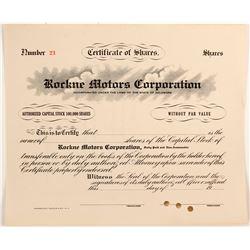 Rockne Motors Corporation  (77202)