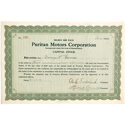 Puritan Motors Corp  (89760)